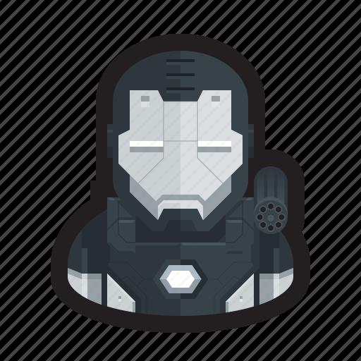 armor, iron man, iron patriot, machine, superhero, war, war machine icon
