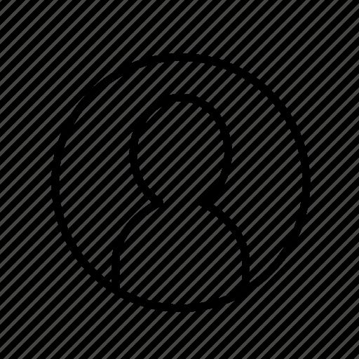 account, avatar, person, profile, user, user003 icon