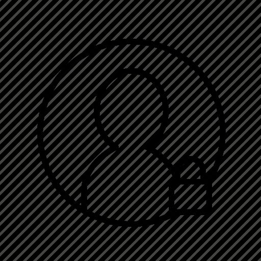 block, lock, user block, user denied, user lock, user003 icon