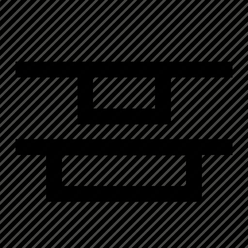 align, alignment, center, distribute, top, ui, vertical icon