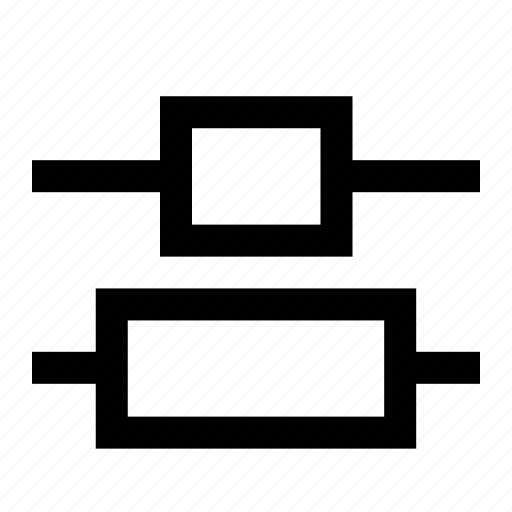 align, alignment, center, distribute, interface, ui, vertical icon