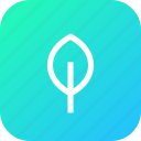environment, interface, stroke, tree icon