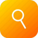circle, find, interface, magnify, search, zoom icon