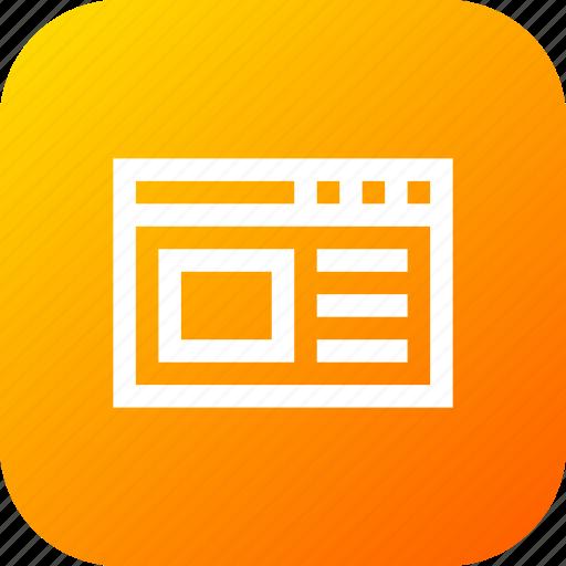 code, development, interface, page, web, window icon