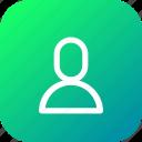 app, application, avatar, human, interface, user icon
