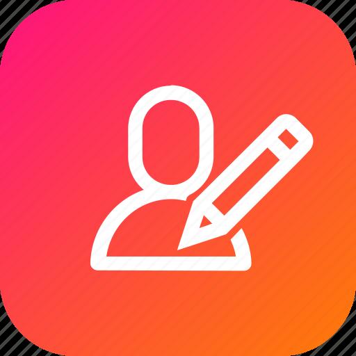 edit, interface, pen, pencil, user, write icon