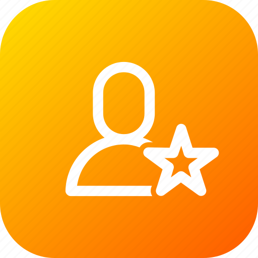 bookmark, favourite, interface, like, man, star, user icon