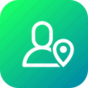 interface, location, navigation, notification, notify, user icon