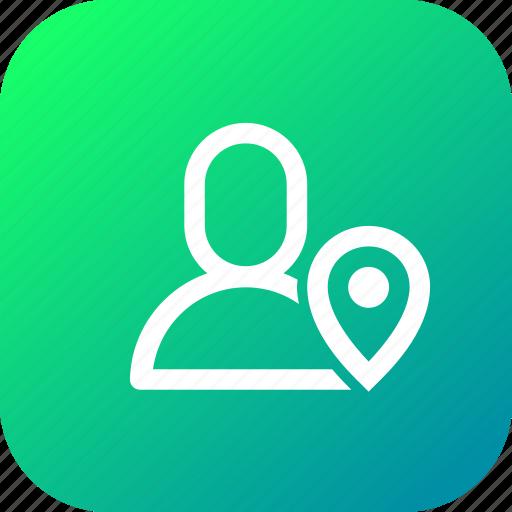 interface, location, navigation, notification, notify, user icon