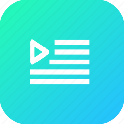data, file, interface, music, play, playlist, video icon