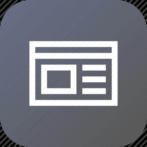 data, html, information, interface, web, window icon