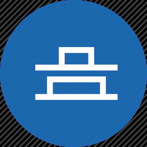 align, alignment, bottom, center, distribute, vertical icon