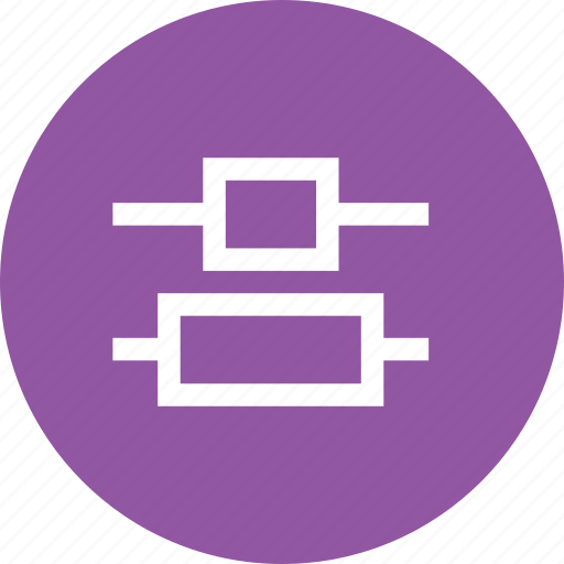 align, alignment, center, distribute, interface, vertical, window icon