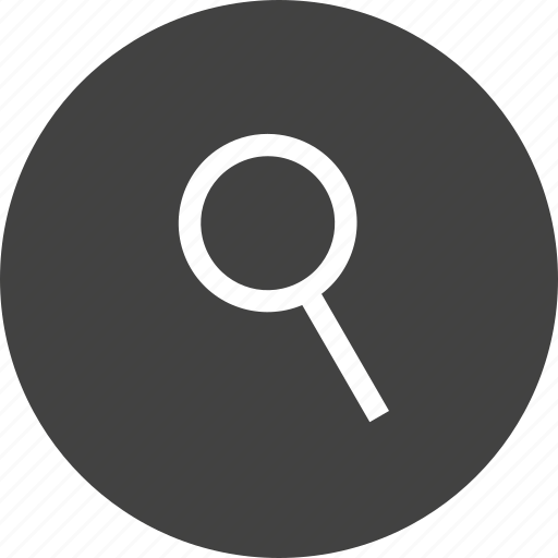 circle, find, glass, interface, magnify, search, zoom icon