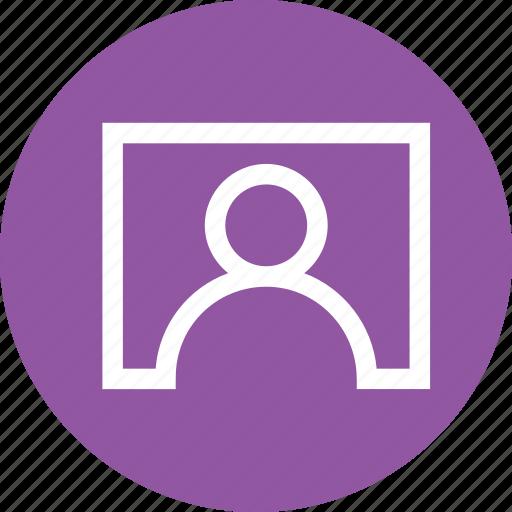 contact, interface, screen, tile, user icon