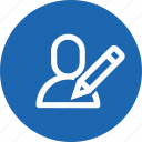 avatar, edit, interface, pen, pencil, user, write icon