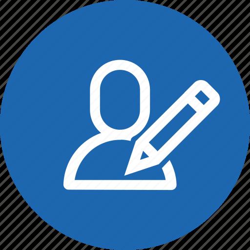 avatar, edit, interface, pen, pencil, user, write icon