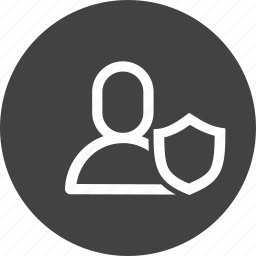 avatar, interface, man, protect, secure, shield, user icon