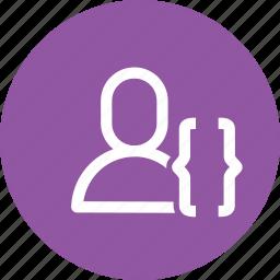 app, avatar, bracket, human, interface, use, user icon