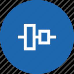 align, arrange, center, system, tool, vertical, vertically icon