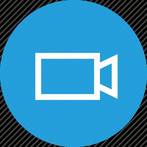 media, record, recording, rectangle, shape, triangle, video icon
