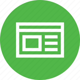 data, document, html, information, interface, web, window icon