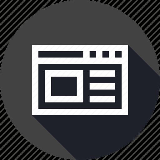 code, interface, ui, web, window icon