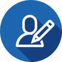 add, edit, interface, pen, pencil, user, write icon