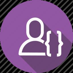 app, bracket, interface, ui, use, user icon