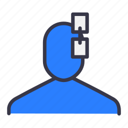 attach, attachment, chain, connect, connecting, joint, user icon