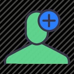 add, attach, connect, insert, ui, user icon