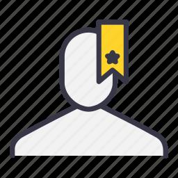 bookmark, favourite, star, tag, ui, user icon