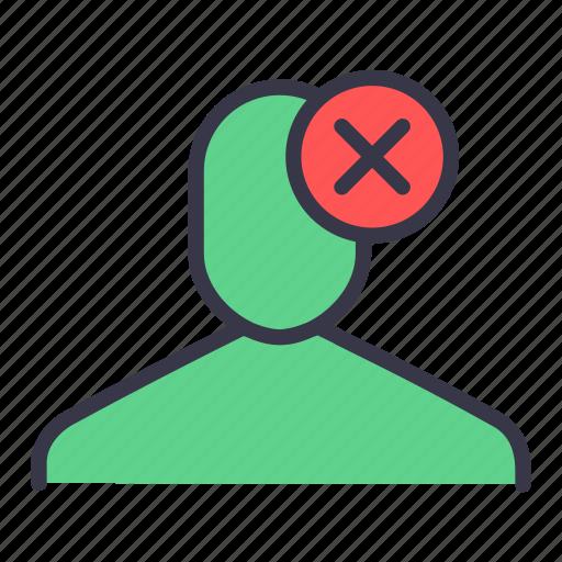 cancel, close, delete, trim, ui, user icon