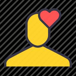 favourite, heart, like, love, ui, user icon