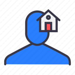 front, home, house, page, ui, user icon