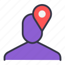find, location, navigation, pinpoint, point, ui, user icon