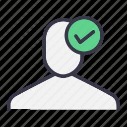 check, legal, secure, ui, user, verify icon