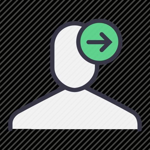 forward, give, next, sending, ui, user icon