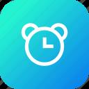alarm, clock, notification, reminder, time icon