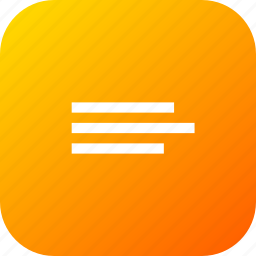 align, alignment, choice, interface, list, option icon
