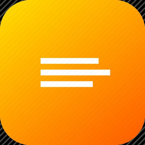 align, alignment, choice, interface, list, option icon