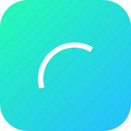 arc, curve, draw, interface, line, tool icon