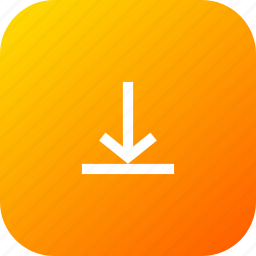 arrow, down, download, interface, items, line icon