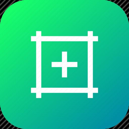 artboard, center, centermark, interface, mark, show icon