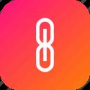 attach, attachment, chain, connect, interface, link icon