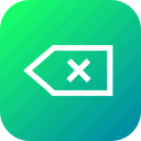 back, backward, exit, interface, tag icon