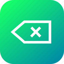 back, backward, exit, interface, tag icon