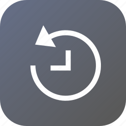 backup, interface, recover, recovery, time icon