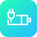 plug, indicator, battery, charge, interface, charging icon