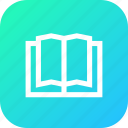 information, exam, novels, study, book, data, guide icon